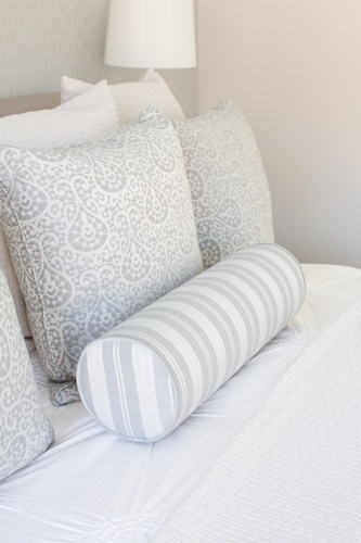 White and Grey Throw Pillows on Bed - Bedroom Renovations Vaughan by Royal Interior Design Ltd