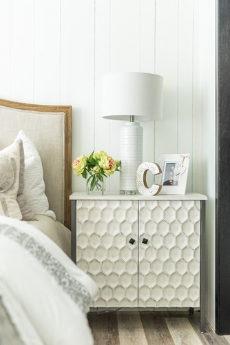 Side Table with Accents and Lamp Shade - Bedroom Renovations Newmarket by Royal Interior Design Ltd