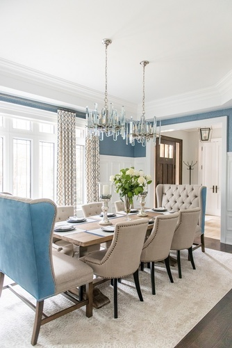 Contemporary Dining Room Renovations GTA by Royal Interior Design Ltd