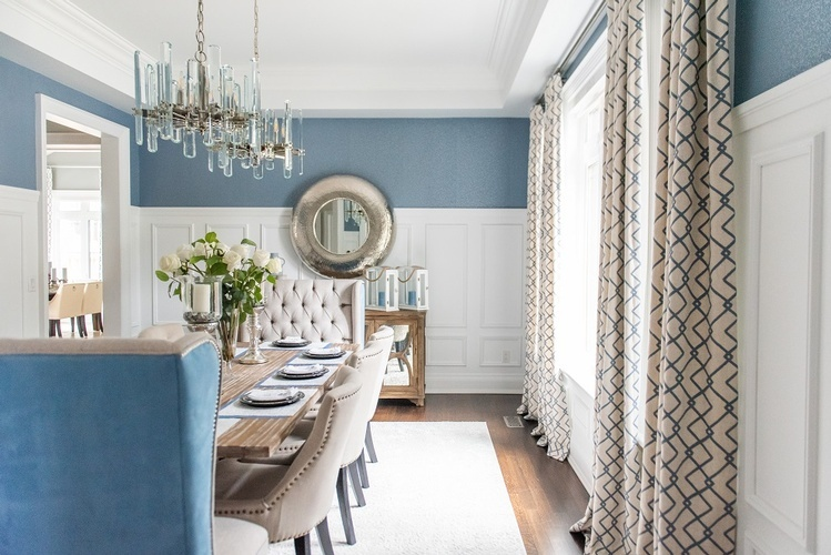 Bright Dining Room Renovations Newmarket ON by Royal Interior Design Ltd