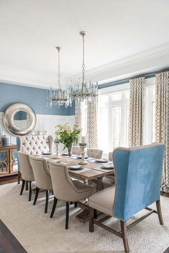 Dining Room Renovation Whitby by Royal Interior Design Ltd