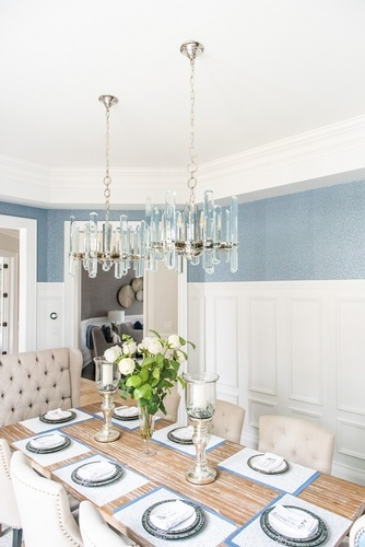 Modern Chandelier - Dining Room Decor Thornhill by Royal Interior Design Ltd