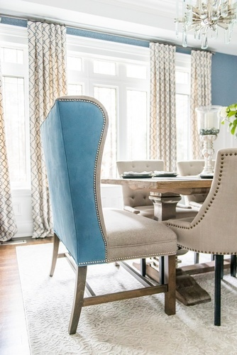 Modern Dining Chair - Luxury Dining Room Renovations Thornhill by Royal Interior Design Ltd