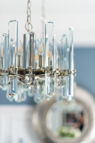 Modern Glass Chandelier - Dining Room Decoration Richmond Hill by Royal Interior Design Ltd