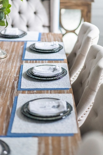 Plates on Dining Table - Dining Room Decor GTA by Royal Interior Design Ltd