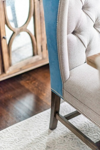 Upholstered Dining Chair - Dining Room Renovations Newmarket by Royal Interior Design Ltd