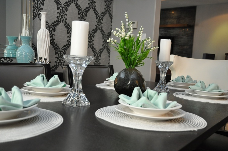 Arranged Dining Table - Dining Room Decor Thornhill ON by Royal Interior Design Ltd