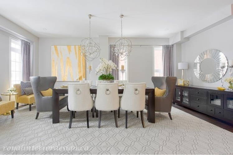Contemporary Dining Room Renovations Markham by Royal Interior Design Ltd