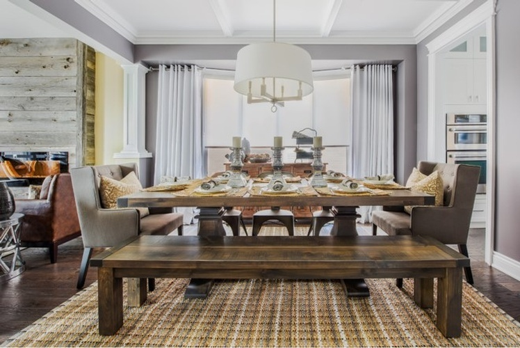 Rustic Modern Dining Room Design Whitby by Royal Interior Design Ltd