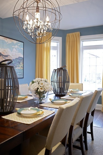 Uplight Chandelier - Dining Room Renovation Vaughan by Royal Interior Design Ltd