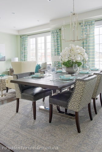 Open Space Dining Room Design Richmond Hill by Royal Interior Design Ltd