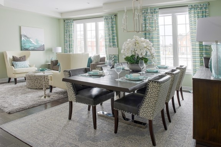 Open Space Luxury Dining Room Renovations Whitby by Royal Interior Design Ltd
