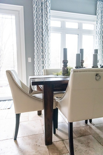 Leather Dining Chairs - GTA Kitchen Renovation by Royal Interior Design Ltd