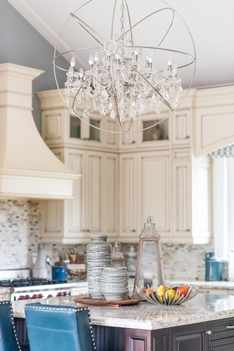 Modern Crystal Chandelier Newmarket  Kitchen Renovations by Royal Interior Design Ltd