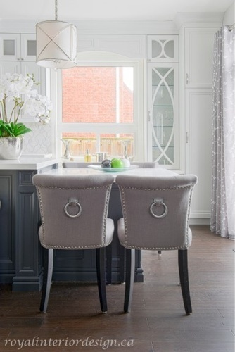 Dining Chairs with Back Ring - Kitchen Renovation Richmond Hill by Royal Interior Design Ltd