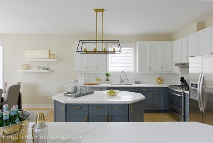 Modern White Kitchen Renovations Newmarket ON by Royal Interior Design Ltd