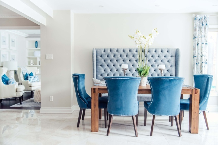 Modern Dining Room Furniture - Stouffville Kitchen Renovations by Royal Interior Design Ltd