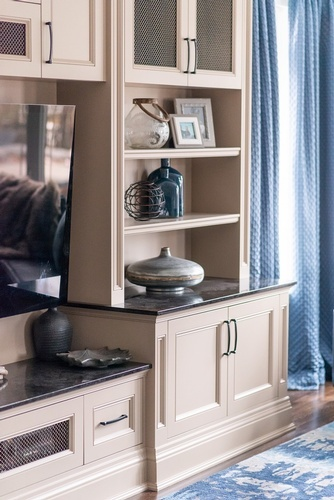 Accents on Shelf - Living Space Decorating Services Aurora by Royal Interior Design Ltd