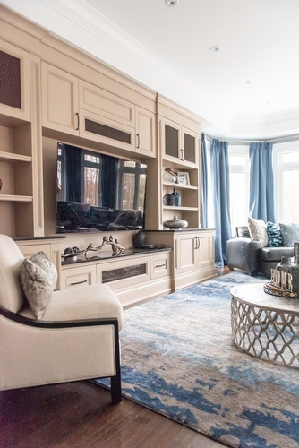 Entertainment Center - Living Space Decorating Services Whitby by Royal Interior Design Ltd