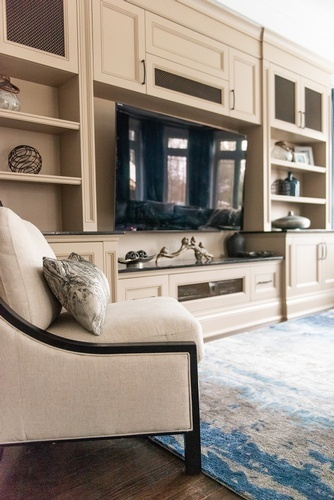 Entertainment Center - Living Space Design in Markham by Royal Interior Design Ltd