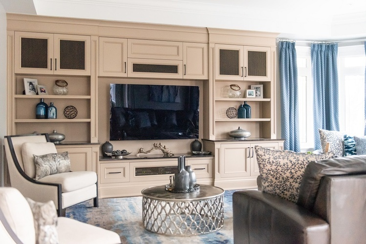 Entertainment Center - Living Space Renovation Services Vaughan by Royal Interior Design Ltd