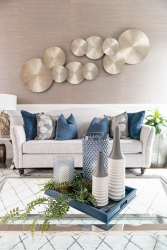 Accents on Coffee Table - Living Space Decorating Services Whitby by Royal Interior Design Ltd