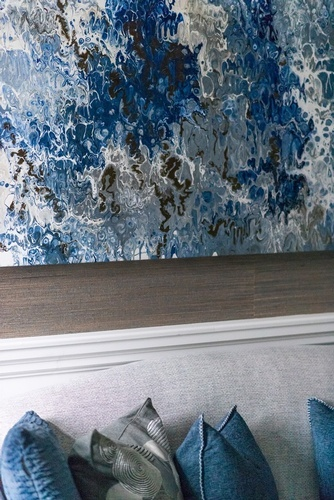 Abstract Wall Painting-- Living Space Renovation Services Vaughan by Royal Interior Design Ltd