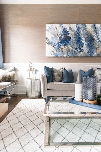 Accents on Coffee Table - Living Space Design Markham by Royal Interior Design Ltd