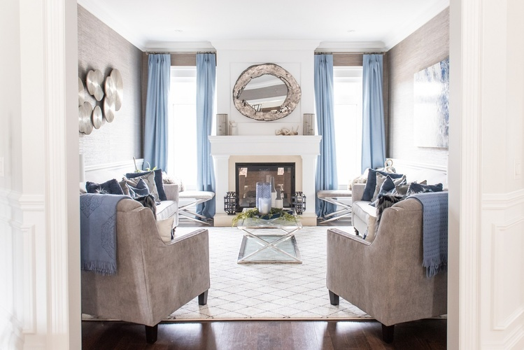 Luxury Living Space Renovations Stouffville by Royal Interior Design Ltd