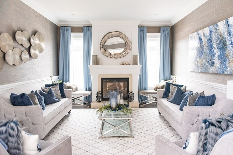Modern Living Space Decorating Whitby by Royal Interior Design Ltd