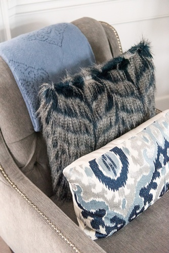Throw Pillows on Accent Chair - Living Space Renovations Whitby by Royal Interior Design Ltd