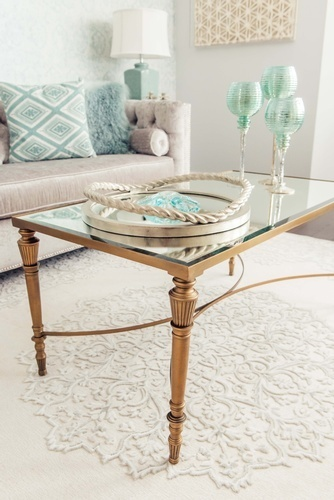 Coffee Table with Accents - Living Space Renovations Aurora by Royal Interior Design Ltd