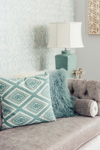 Throw Pillows on Couch - Living Space Decorating Services Whitby by Royal Interior Design Ltd