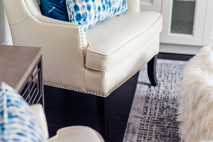 Leather Accent Chair - Living Space Renovations Richmond Hill by Royal Interior Design Ltd