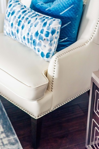 Leather Accent Chair - Living Space Renovation Services Vaughan by Royal Interior Design Ltd