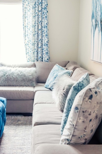 Sectional Sofa with Decorative Throw Pillows - Living Space Decorating Services Thornhill by Royal Interior Design Ltd