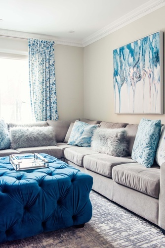 Sectional Sofa - Living Space Decor Markham by Royal Interior Design Ltd