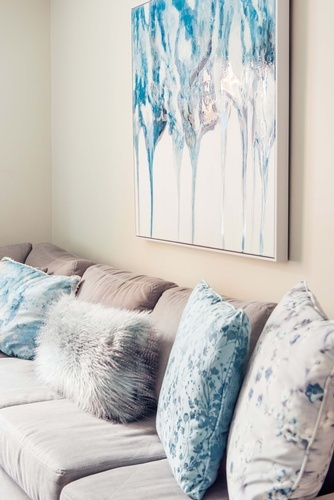 Throw Pillows on Couch - Living Space Decorating Services Newmarket by Royal Interior Design Ltd
