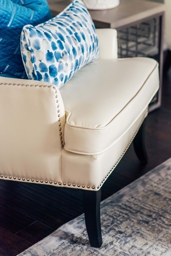 White Accent Chair - Living Space Decorating Services Newmarket by Royal Interior Design Ltd