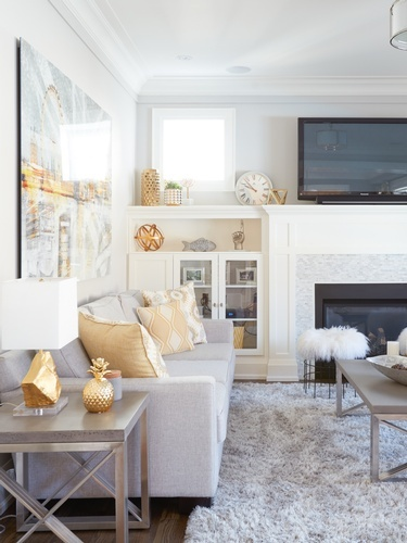 Custom Living Room Cabinets - Living Space Decorating Services Newmarket by Royal Interior Design Ltd