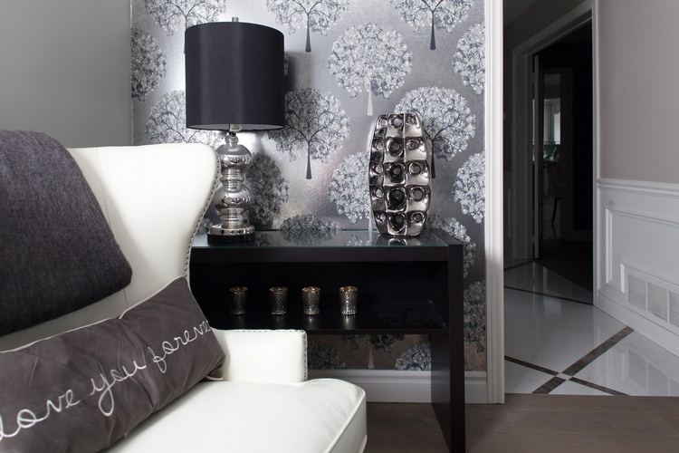 Accent Chair near Console Table - Living Space Decorating Services Newmarket by Royal Interior Design Ltd