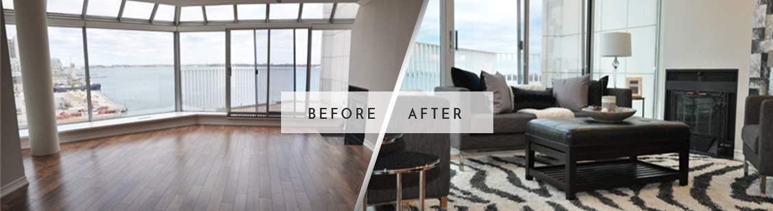 Before and After Home Staging in Aurora - Royal Interior Design Ltd.