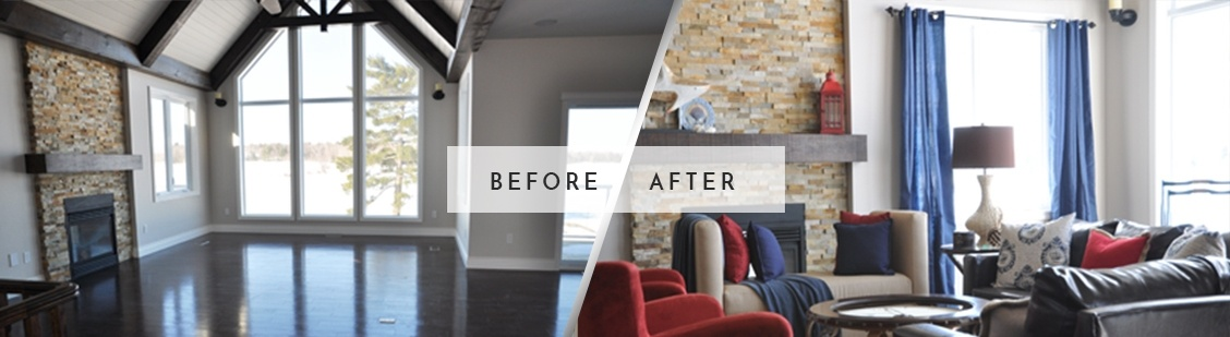 Before and After Home Staging in Markham - Royal Interior Design Ltd.