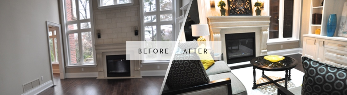 Before and After Home Staging in Stouffville - Royal Interior Design Ltd.