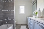 Elegant White and Blue Bathroom Renovations Aurora by Royal Interior Design Ltd