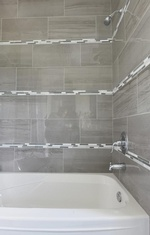 Shower Room Bath Tub - Bathroom Renovations Aurora Ontario by Royal Interior Design Ltd