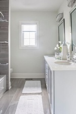 Double Sink Vanity with Mirrors - Bathroom Renovations GTA by Royal Interior Design Ltd