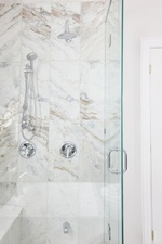 Corner Shower Room - Bathroom Renovations in Vaughan by Royal Interior Design Ltd