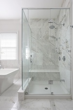 Recessed Wet Room - Bathroom Renovations in Richmond Hill ON by Royal Interior Design Ltd