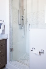 Shower Room with Glass Door - Bathroom Renovations in GTA by Royal Interior Design Ltd